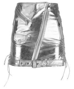 Manokhi | Biker Mini-Skirt 36 Lamb Skin