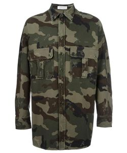 Faith Connexion | Camouflage Print Shirt Jacket Small Cotton