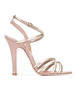 Red Valentino | Tone Detail Buckled Sandals 39 Calf