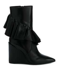 J.W. Anderson | J.W.Anderson Frill Detail Boots 37 Calf Leather/Leather