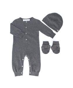 Tartine et Сhocolat | Tartine Et Chocolat Romper Hat And Mittens Set Infant 9