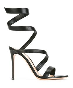 Gianvito Rossi | Twirl Effect Sandals 39 Nappa Leather/Leather