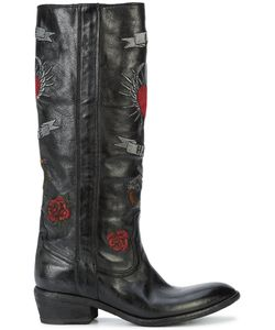 FAUZIAN JEUNESSE | Embroidered Knee High Boots Women