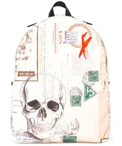 Alexander McQueen | Letters From India Backpack Leather/Cotton/Nylon