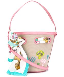 Olympia Le-Tan | Mushroom Beaded Bucket Tote