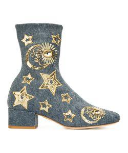 Chiara Ferragni | Sequin Stars Boots 35 Cotton/Leather/Sequin