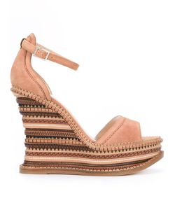 Alchimia Di Ballin | Embossed Striped Wedge Sandals