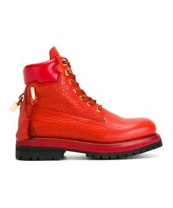 Buscemi | Lock Detail Ankle Boots 10 Calf Leather/Rubber/Leather