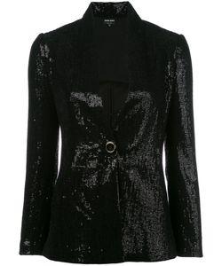 Giorgio Armani | Sequin Blazer 42 Polyamide/Polyester/Spandex/Elastane/Silk