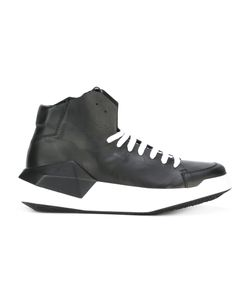 Cinzia Araia | Geometric Hi-Top Sneakers 41 Leather/Rubber