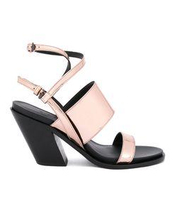 A.F.Vandevorst | Diagonal Heel Strappy Sandals Calf Leather/Leather/Patent