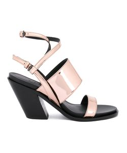 A.F.Vandevorst | Diagonal Heel Strappy Sandals Size 39 Calf Leather/Leather/Patent
