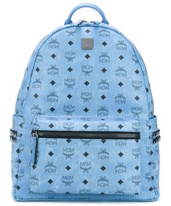 MCM | Logo Print Studded Backpack