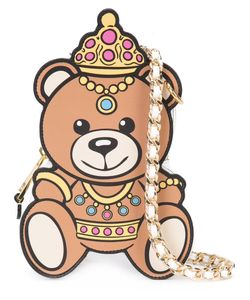 Moschino | Crowned Teddy Bear Shoulder Bag Leather