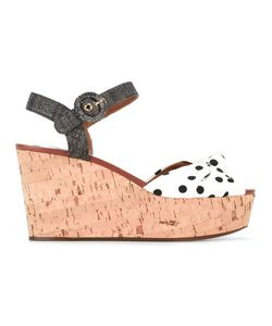 Dolce & Gabbana | Polka Dot Wedge Sandals 37