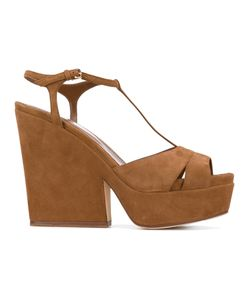 Sergio Rossi | T-Bar Wedged Sandals Size 37.5