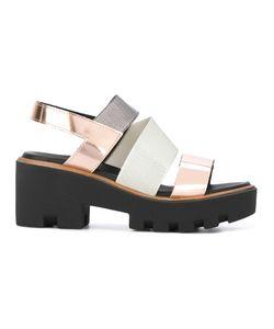Pollini | Cross Strap Sandals