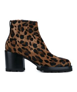 Dries Van Noten | Leopard Print Ankle Boots Size 35.5