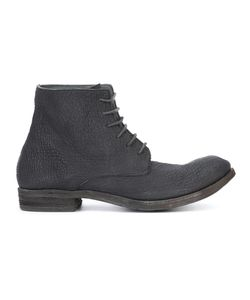A DICIANNOVEVENTITRE | Lace-Up Ankle Boots 41 Leather/Shark Skin