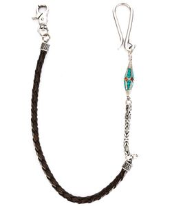 Andrea D'amico | Pendant Detail Interlaced Keychain Leather/Metal Other