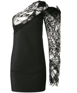 Saint Laurent | One Shoulder Asymmetric Dress 36 Polyamide/Mohair/Wool/Silk