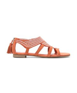 Sarah Chofakian | Leather Flat Sandals Size 38