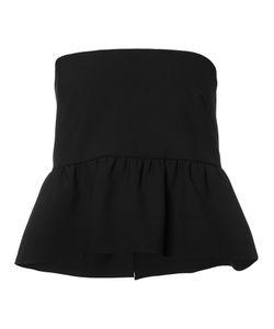 Nicole Miller   Peplum Hem Top Xs Cotton/Polyester/Spandex/Elastane/Viscose