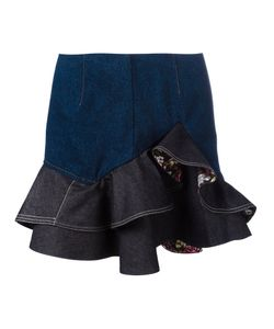 Alexander McQueen | Ruffled Mini Skirt 42 Cotton