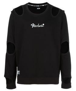 Ktz | Cut-Off Detail Longsleeved T-Shirt Adult Unisex Xl Cotton