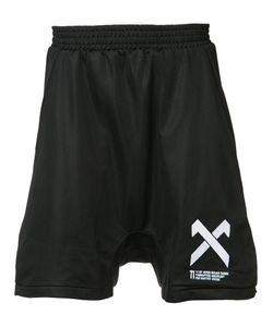 11 BY BORIS BIDJAN SABERI | Drop-Crotch Logo Shorts