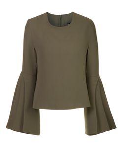 Brandon Maxwell | Layered Sleeve Blouse Size 10