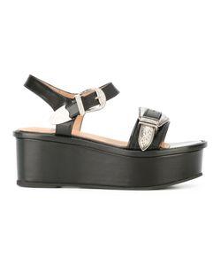 Toga | Buckled Platform Sandals 36 Leather/Rubber