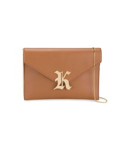 Christopher Kane | Gothic K Clutch Bag Leather/Cotton/Metal