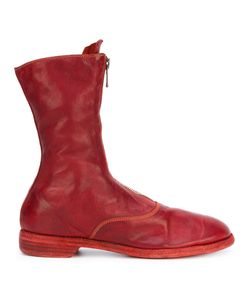 GUIDI | Front Zip Calf-Length Boots Size 39.5