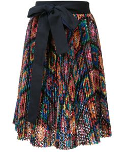 Sacai | Ribbon-Tie Skirt 1 Cotton/Cupro