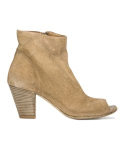 Officine Creative | Snakeskin-Effect Open Toe Ankle Boot 40