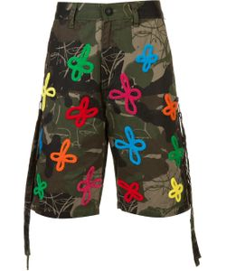 HACULLA | Embroidered And Printed Bermuda Shorts