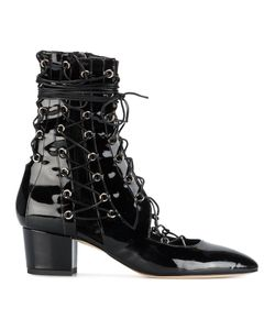 LUDMILA | Drury Lane Double Laced Patent Leather Boots Women