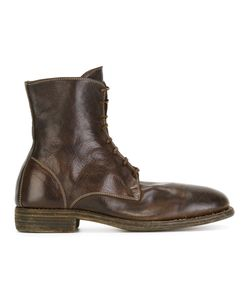 GUIDI | Lace-Up Boots 42 Leather