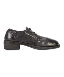 GUIDI | Chunky Heel Lace-Up Shoes 39 Horse Leather/Leather