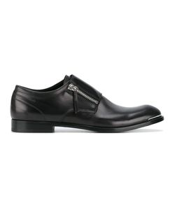 Alexander McQueen | Zipped Derby Shoes 44 Leather