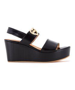 Love Moschino | Logo Plaque Platform Sandals 37 Polyester/Polyurethane