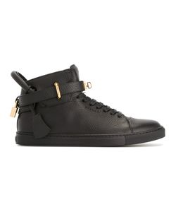 Buscemi   Padlock Detail Hi-Tops 42 Calf Leather/Rubber/Leather