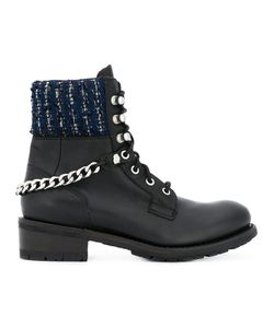 Karl Lagerfeld   Ботинки С Твидовой Отделкой
