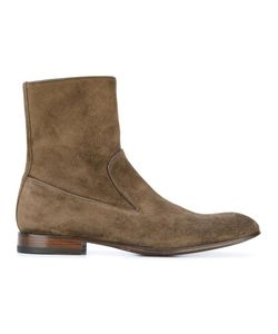 Alexander McQueen | Zip Ankle Boots 42 Suede/Leather