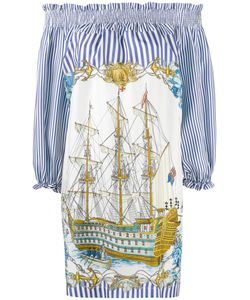P.A.R.O.S.H. | P.A.R.O.S.H. Pinstripe Pirate Ship Dress