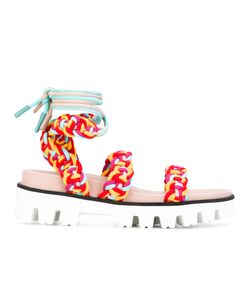 Red Valentino   Woven Sandals
