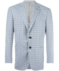Brioni | Checked Blazer 54 Wool/Cupro