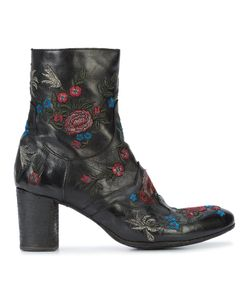 FAUZIAN JEUNESSE | Embroidered Flowers Ankle Boots