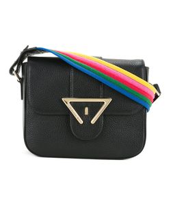 Sara Battaglia | Striped Strap Shoulder Bag Calf